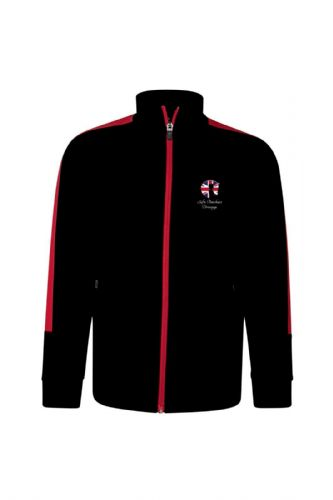Kids Black/Red Sofie Butchart Dressage Zip Top (1)